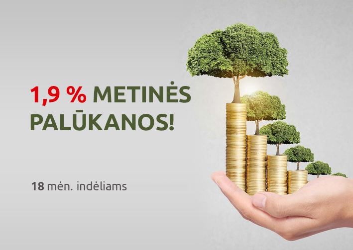 Vasaros akcija – už terminuotą indėlį gauk net iki 1,9 proc. metinių palūkanų!